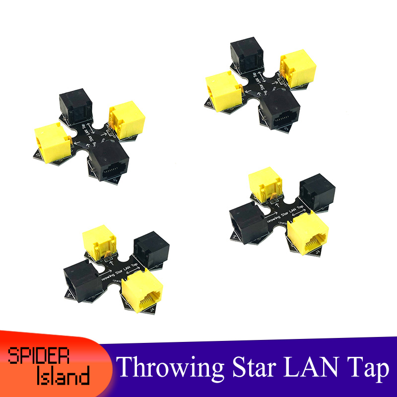 Throwing Star LAN Tap 1.5 Network Packet Capture Mod Haker Tool 100% Original Replica Monitoring Ethernet Communication Analysic