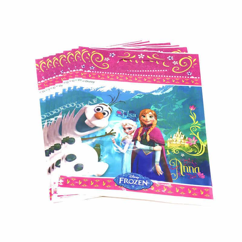 Feestartikelen Wegwerp Servies Disney Frozen Anna En Elsa Prinses Verjaardagsfeestje Decoraties Tafelkleed Platen Cups Vlaggen
