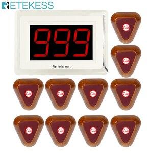 Image 1 - אלחוטי מסעדת מלצר קורא מערכת 10pcs שיחת כפתור + 1 מקלט מארח תצוגת עם קול דיווח מסעדה ציוד