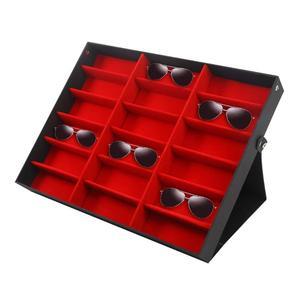 Image 2 - 18 Grid Sunglasses Storage Box Organizer Glasses Display Case Stand Holder Eyewear Eyeglasses Box Sunglasses Case