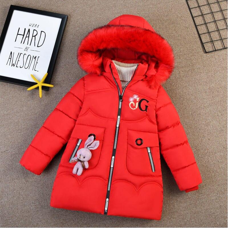 Зимняя пуховая куртка для девочек, теплая одежда, плотные пальто, ветрозащитная парка, детские зимние куртки, детская зимняя верхняя одежда ...