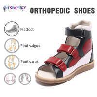 Original Princepard 2018 nuevos zapatos ortopédicos para niños rojo y negro calzado ortopédico para niños niñas sandalias