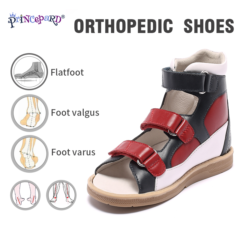 Original Princepard New Orthopedic Shoes For Children  Red And Blue Orthopedic Footwear For Kids Girls Boys Sandals