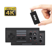 Consola inalámbrica USB juego Stick videojuego consola integrada en 568 juego clásico 8 Bit Mini controlador Retro salida HDMI reproductor Dual video game