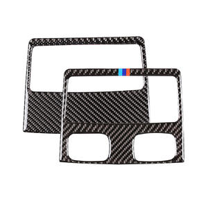Image 3 - For BMW 3 Series E90 2005 2006 2007 2008 2009 2010 2011 2012 Carbon Fiber Car Rear Air Condition Vent Air Outlet Frame Cover