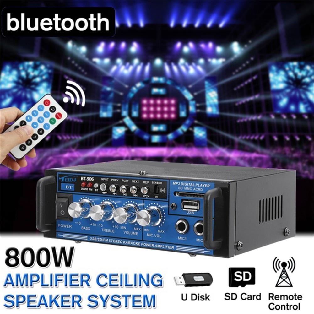 1PC 6.5 inch 2-Way 800W HIFI bluetooth Stereo Audio Radio Amplifier 400W Coaxial Speaker Horn Home Car