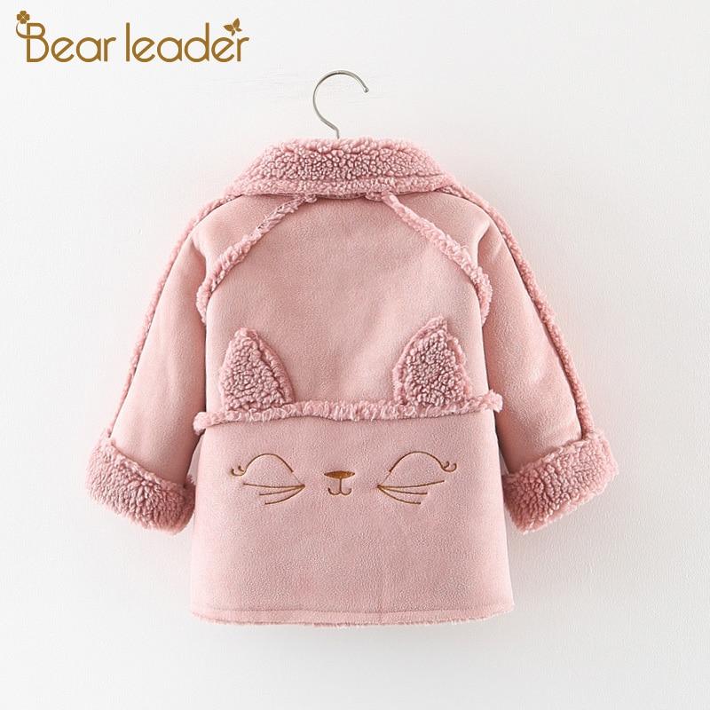 Bear Leader Girls Coats New Brand Winter Kids Baby Jacket Cartoon Giraffe Soft Cotton Children Girls Outfits Kids Baby Clothing