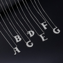 100% 925 Sterling Silver Necklace Women A-Z English Alphabet Necklace for Women Short Clavicle Chain Necklace Jewelry 925 Silver u7 100% 925 sterling silver 3d little angel necklace for girl women birthday gift dainty jewelry silver 925 chain