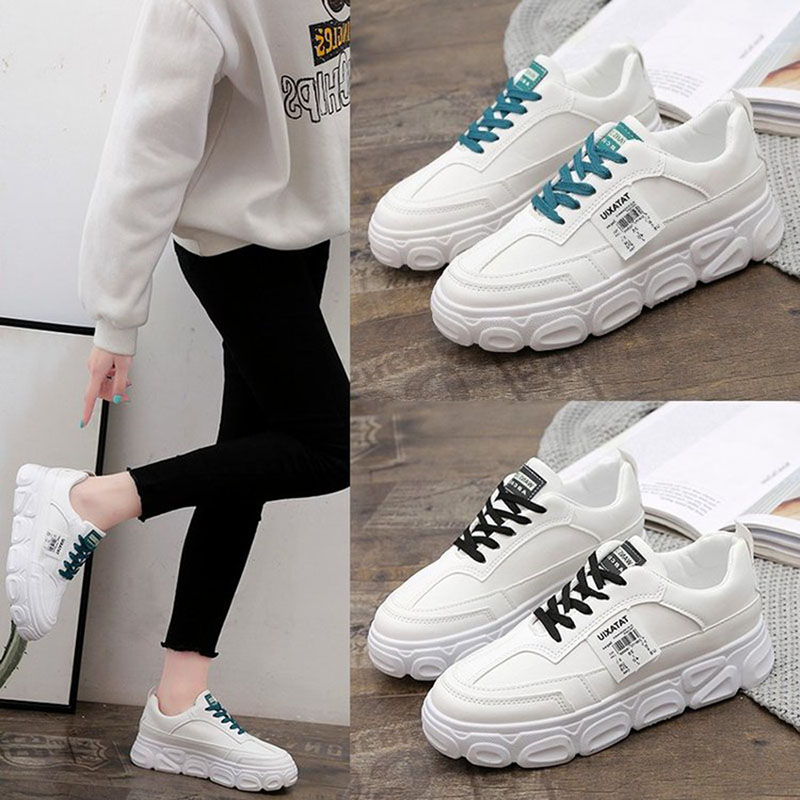 white sneaker platform shoes
