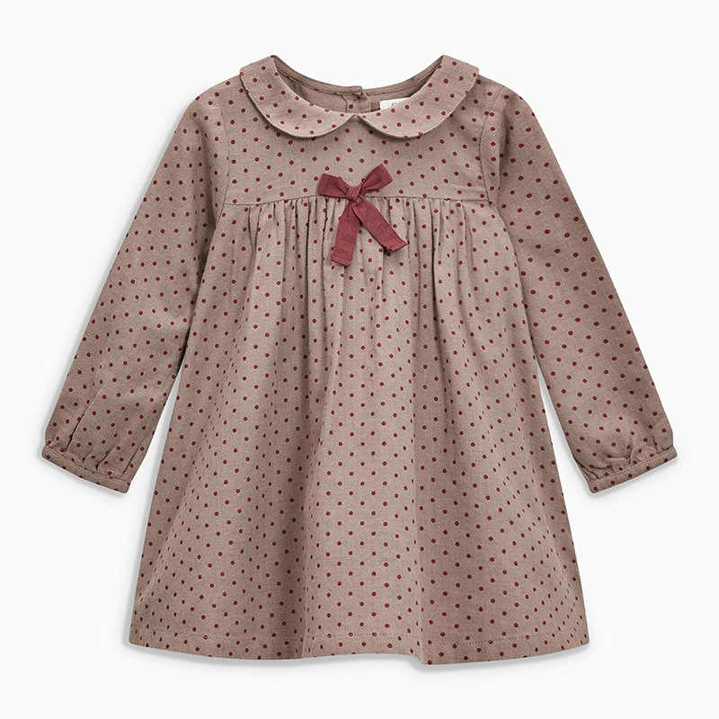 Little maven 2-7Years 2019 Autumn Wave Point Dresses For Girls Toddler Baby Girls Dress Children Kids Tops Dress Fall Clothing