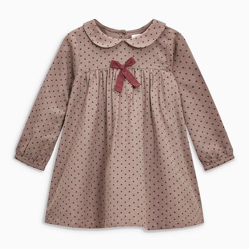 Little maven 2 7Years 2019 Осень Wave Point Платья Для Девочек Малышей Новорожденных Девочек Платье Дети Дети Топы Платье Осень Одежда