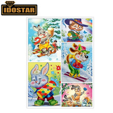 5d diamond painted cartoon rabbit and cat diamond embroidery picture diamond mosaic cross stitch christmas family decoration gif(China)