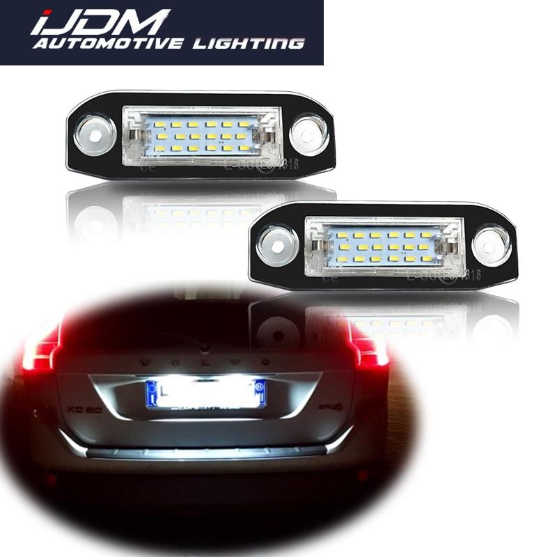 IJDM для Volvo S60 V60 V50 XC60 XC70 XC90 и т. Д., сверхъяркий Canbus без ошибок, ксенон, светодиодный ОД, подсветка Номерного Знака Автомобиля 12 В