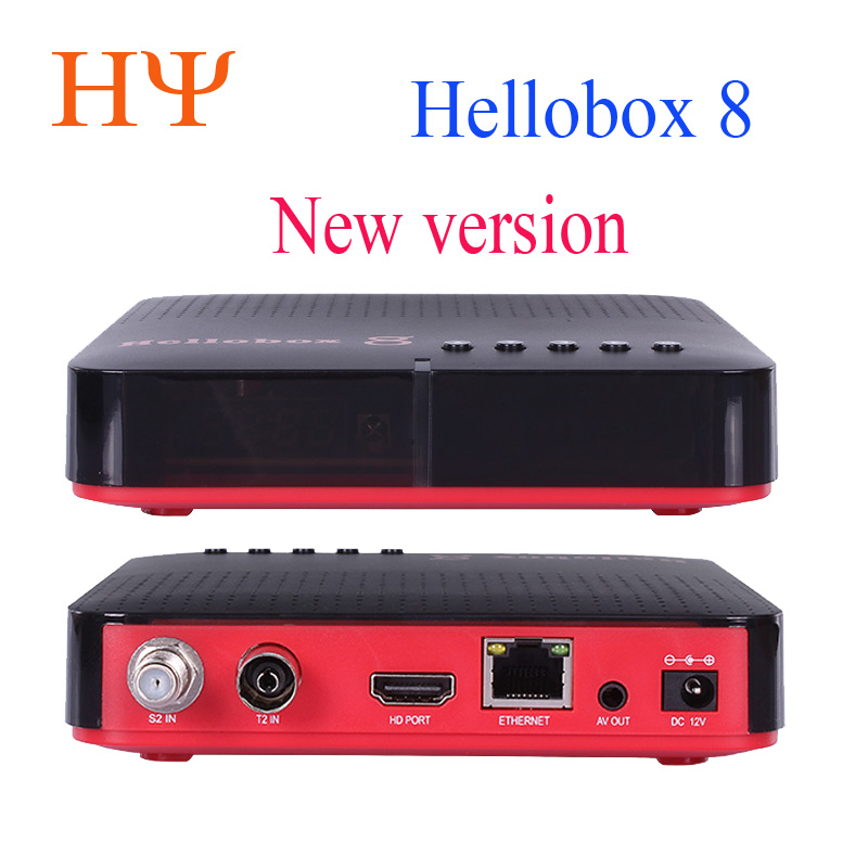 Hellobox 8 Satellite Receiver DVB-T2 DVBS2 Combo TV Box Twin Tuner Support TV Play On Phone Set Top Box Satellite Finder