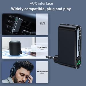 Image 2 - Baseus AUX Car Bluetooth Receiver 3.5MM Jack Audio Music Bluetooth 5.0 Car Kit Wireless Handsfree Speaker Bluetooth Car Stereo