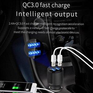 Fm-передатчик Автомобильный MP3-плеер Bluetooth 5,0 приемник музыкальный плеер QC3.0 Быстрая зарядка двойной USB порт для зарядки телефона
