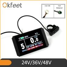 Okfeet kt lcd8h ebike display lcd de bicicleta elétrica lcd8h usb kt lcd3 display KT-LCD para bicicleta elétrica lcd