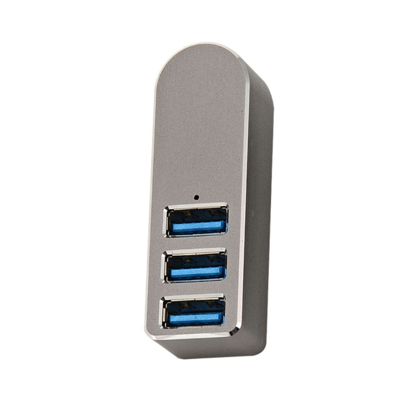 Aluminum Alloy Mini 3 Port USB 3.0 Hub Rotary USB Splitter Adapter For PC Laptop
