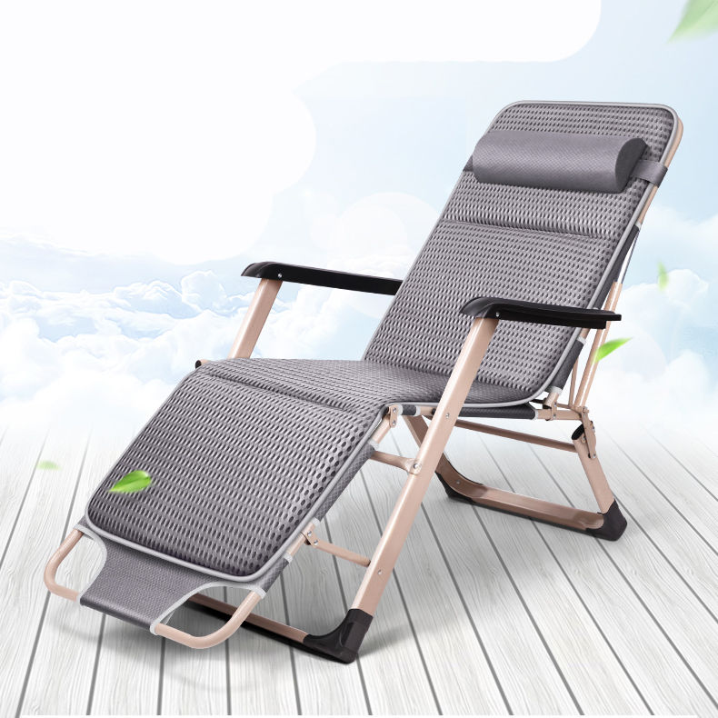 Folding Bed Single Bed Nap Bed Home Simple Lunch Break Portable Multifunctional Marching Office Lounge Chair