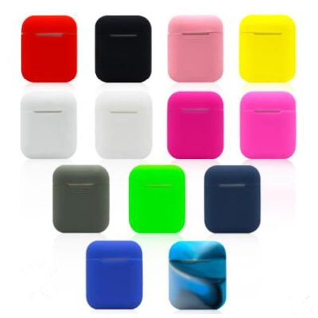 I7S słuchawki z bluetooth przypadku i7mini etui na słuchawki nietłukące TWS bezprzewodowy ładowania magazyn moda silikonowy Case2pcs/opakowanie