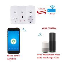 10A Wifi Беспроводная умная розетка Wifi розетка для Tianmao Genie для Alexa для Google Home для IFTTT EWelink