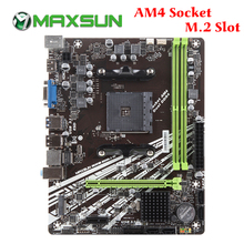 اللوحة الأم ماكس صن AM4 A320M VH M.2 تشالنجر AMD ddr4 فتحات الذاكرة الكباش nmve m.2 sata iii ssd HDMI + VGA اللوحة الرئيسية لسطح المكتب