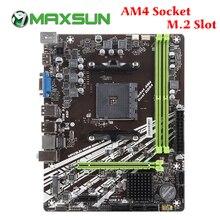MAXSUN เมนบอร์ด AM4 A320M VH M.2 Challenger AMD DDR4 สล็อตหน่วยความจำ RAMS nmve M.2 SATA III SSD HDMI + VGA Mainboard สำหรับเดสก์ท็อป