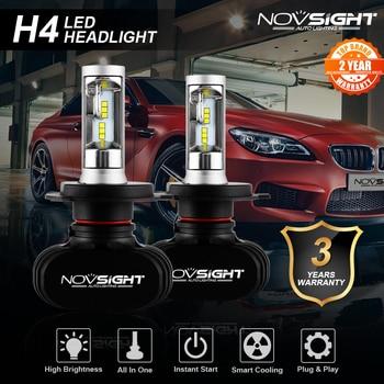 цена на NOVSIGHT Led H4 H7 H8 H9 H11 8000LM 50W 6500K Car LED Headlights White Fog Lamps 9005 HB3 9006 HB4 Fog Light Bulbs CSP LED Chips