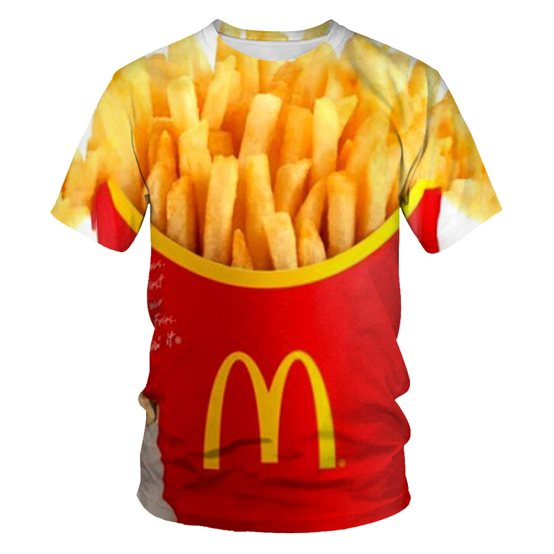 Summer Men's T-shirt 3D Printing Food Fruit Pictures Harajuku T-shirt Super Breathable Fashion Street Men's and Women's T-shirt