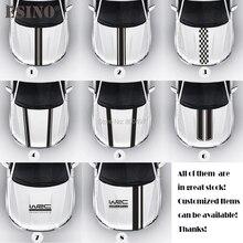 New Styling WRC FIA World Rally Championship Stripe Car Hood Covers Vinyl Racing Sports Decal Head Car Sticker Car Accessories