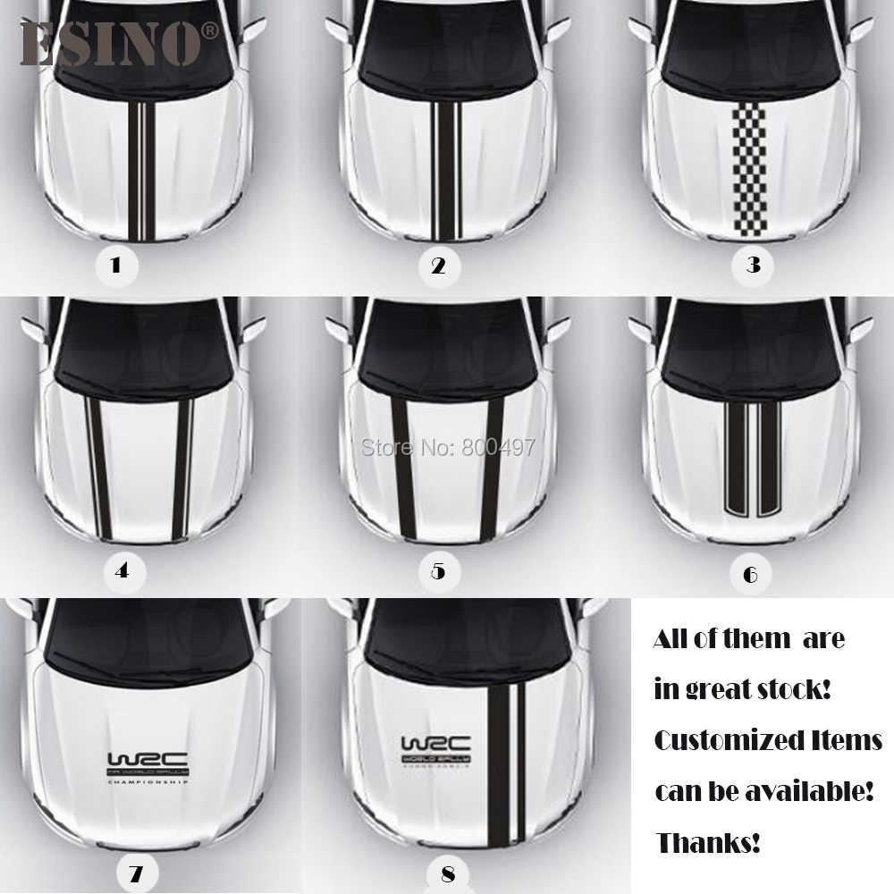 Nouveau style WRC FIA championnat du monde de rallye rayure capot de voiture couvre vinyle course sport décalcomanie tête voiture autocollant accessoires de voiture