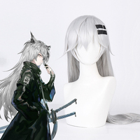 Game Arknights Cosplay Wigs Lappland Cosplay Wig Heat Resistant Synthetic Wig Hair Halloween Carnival Party Anime Cosplay Wig