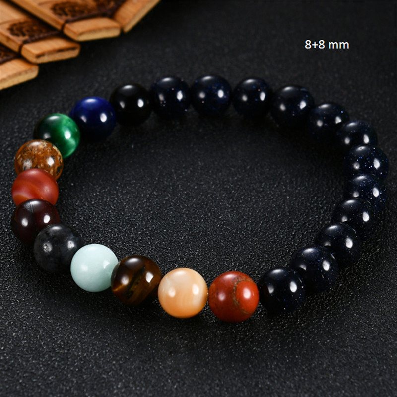 2019 Eight Planets Bead Bracelet Men Natural Stone Universe Yoga Solar Chakra Bracelet for Women Men Jewelry Gifts Drop Shipping 4
