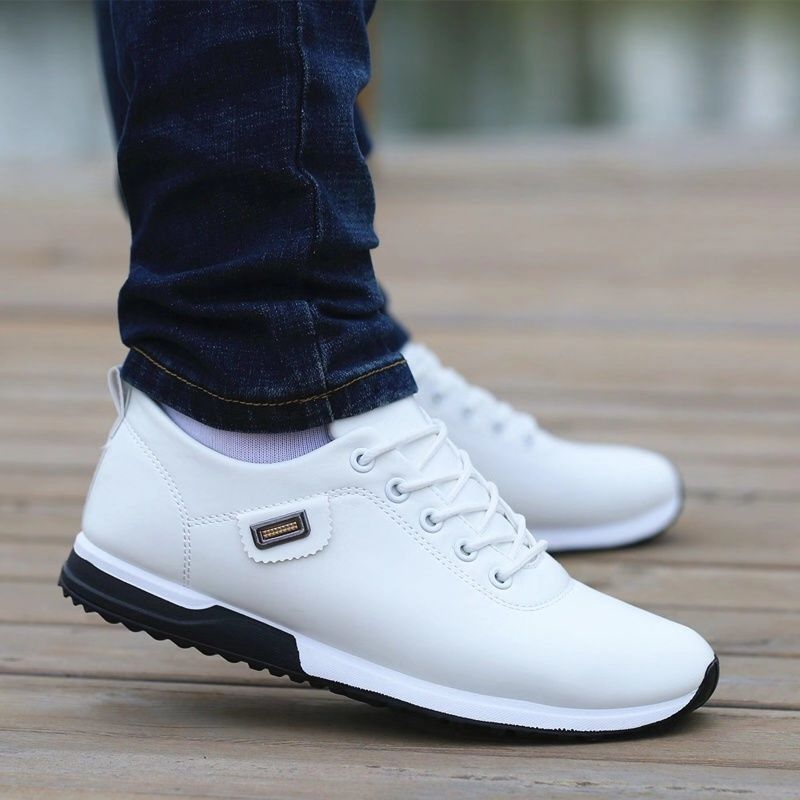 Men Shoes Business Casual Shoes for Male PU Leather Shoes 2019 Sneakers Men Fashion Loafers Walking Footwear Zapatos De Hombre title=