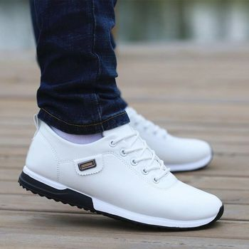 Men Shoes Business Casual Shoes for Male PU Leather Shoes 2019 Sneakers Men Fashion Loafers Walking Footwear Zapatos De Hombre 2019 fashion sneakers leather men casual shoes zapatos hombre footwear male walking shoes designer men business shoes flat dress