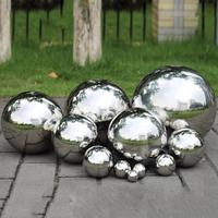 For VIP High Gloss Glitter Stainless Steel Ball Sphere Mirror Hollow Ball For Home Garden Decoration Supplies Ornament 51mm