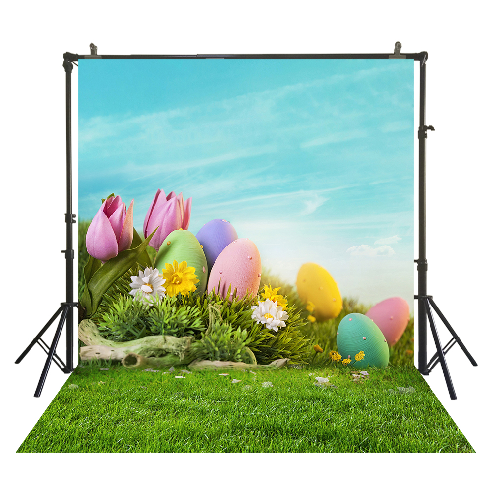 Easter Day Photography Backdrop Newborns Baby Child Easter Spring Photo Booth Background Studio Portraits Backdrop W-3817