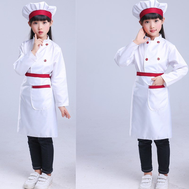 Children's Little Chef Uniform Kindergarten Chef  Overalls Children's Chef Clothes Costume Kawaii Kitchen Chef Wear
