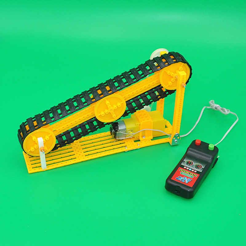 Saizhibaba Diy Elektrische Transportband Model Stoom Speelgoed Wetenschap Onderwijs Aid Kinderen Gift Jongen Meisje Aanwezig Mini Transporter Speelgoed