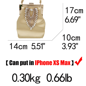 Image 5 - ブティックデfggダイヤモンド女性サテンイブニング財布バッグウェディングカクテル金属クラッチハンドバッグブライダルクリスタルクラッチトートバッグ
