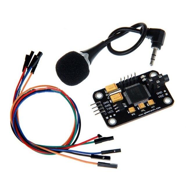 שליטה עמיד זיהוי קול מודול אוניברסלי מגשר חוט שחור דיבור עם מיקרופון כלים גבוהה רגישות לrduino