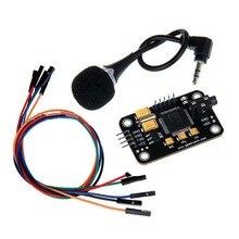 Kontrol dayanıklı ses tanıma modülü evrensel Jumper tel siyah konuşma mikrofon ile araçları yüksek hassasiyetli arduino için