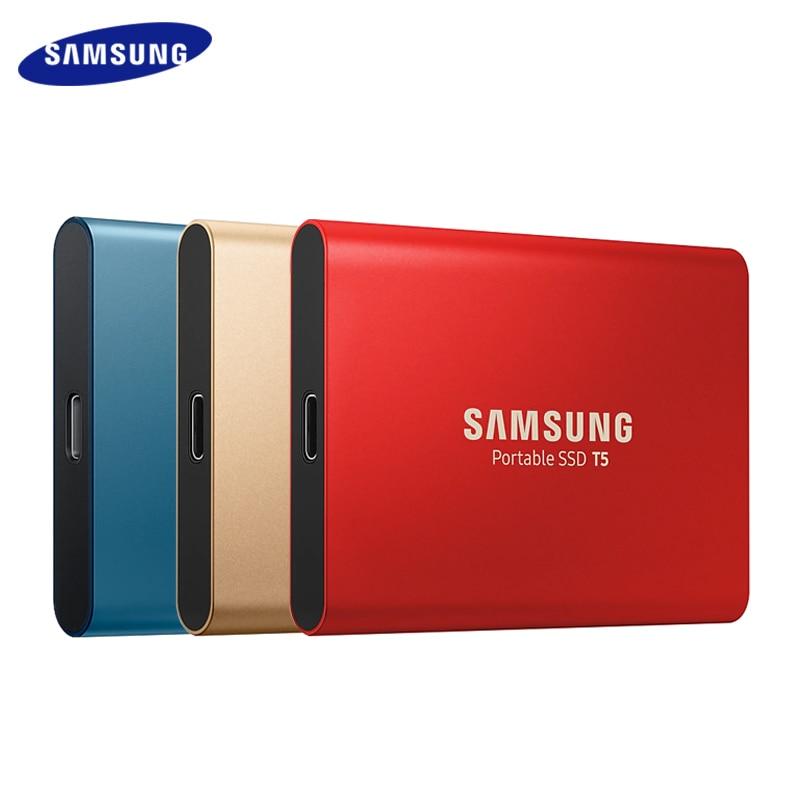 Original Samsung Portable T5 SSD 500GB 1TB 2TB External Solid State Drives Type C USB 3.1 Gen 2 backward compatibles ssd 1tb 2tb|External Solid State Drives| - AliExpress