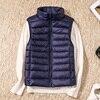 New Women Sleeveless Women's Ultra Light Down Vests Slim Jacket Girl Gilet Plus Lightweight Windproof Warm Waistcoat Portable 4