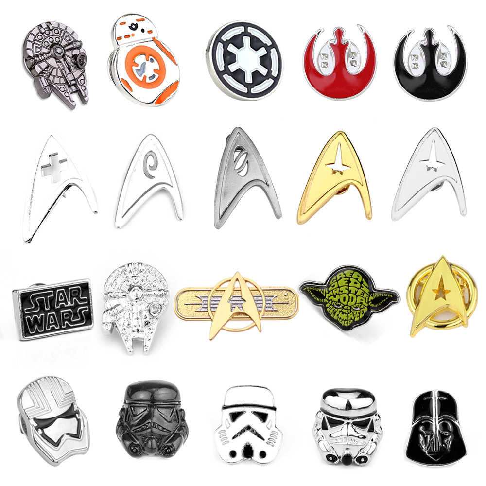 Star Wars Pin Stormtrooper Brosche Pin Star Wars Darth Vader Rebel Allianz Falcon Brosche Abzeichen Revers Pin Männer