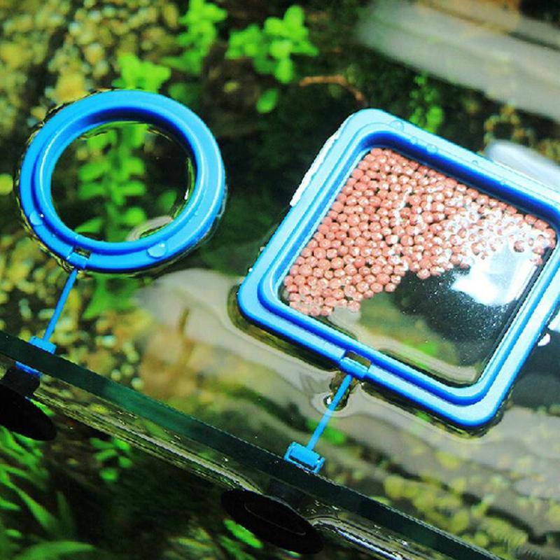 Fish Feeding Aquarium Fish Tank Ring Feeder Station Floating Food Water Plant Buoyancy Circle 1pcs Aquarium Fish Feeding Ring