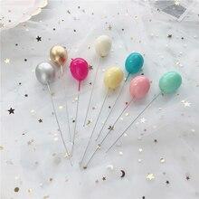 6 uds. De globos de Color dorado plateado, decoración para fiestas, postres, regalos encantadores, banderas para tarta de boda y cumpleaños