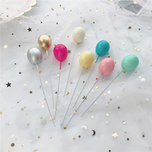6Pcs Golden Silver Color Balloon Collection Cake Topper for Party Decoration Dessert Lovely Gifts Birthday Wedding Cake Flags