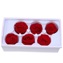 Eternal Roses Heads,Real Natural Fresh Preserved Rose,Beauty And The Beast Forever Rose,Immortal Flower Material Red