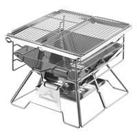 Coleman Thick Stainless Steel Barbecue Grill Outdoor Portable Foldable BBQ Grill Household Charcoal Oven